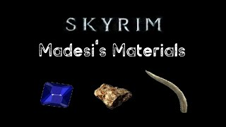 Where To Find ALL Of Madesi's Materials - SKYRIM - PS4