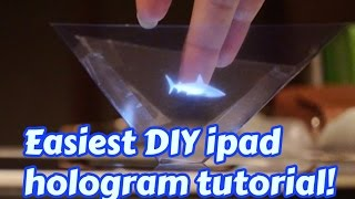 Easy! How to make an Ipad 3D hologram projector