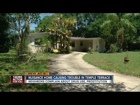Temple Terrace neighborhood says nuisance home is danger to community