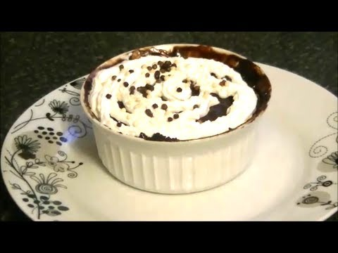 NUTELLA MICROWAVE CAKE *COOK WITH FAIZA*