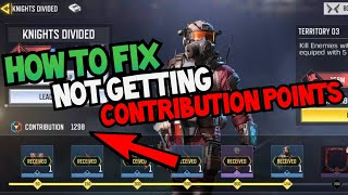 How To Fix Not Getting Contribution Points In Knights Divided Event - COD Mobile