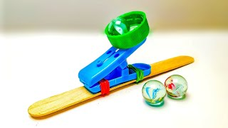 DIY Clothespin Catapult || Simple Way To Make A Catapult