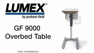 Lumex GF9000 Overbed Table Youtube Video Link
