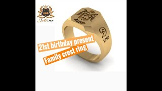 Family Crest Ring For A 21st Birthday Present