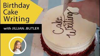 Birthday Cake Decorating - Easy Cake Writing with Chocolate (2020)