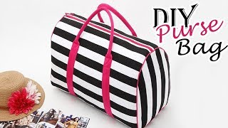 DIY PURSE BAG | Zipper Cute Summer Striped HandBag Just In Hour