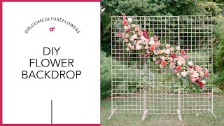 DIY Wedding Ceremony Backdrop With Bloom Culture Flowers