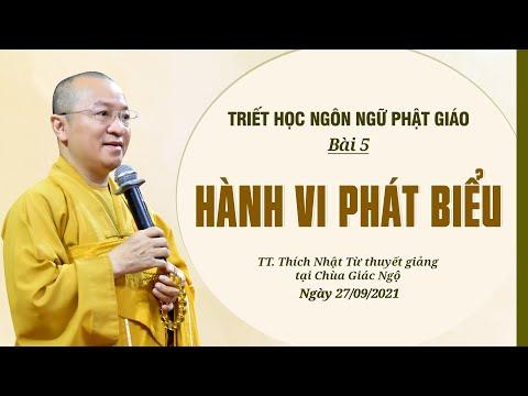 Hành vi phát biểu l Triết học ngôn ngữ học Phật giáo