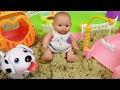 Download Video Baby Doll And Pet Dog Sand Play Ground Toys Play