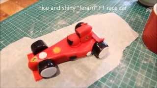 F1 car cake topper