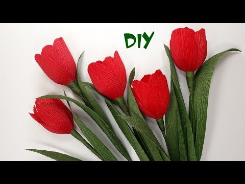 Download How To Make Crepe Paper Flowers Diy Paper Tulips Craft