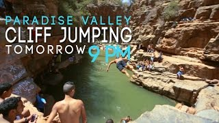 Paradise valley  cliff jumping '' Agadir-Morocco '' 2015
