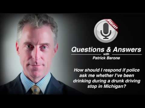video thumbnail Michigan Drunk Driving Stop Police Questions