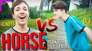 PARKOUR HORSE CHALLENGE #1 | HENDYS VS. OLY 🐴