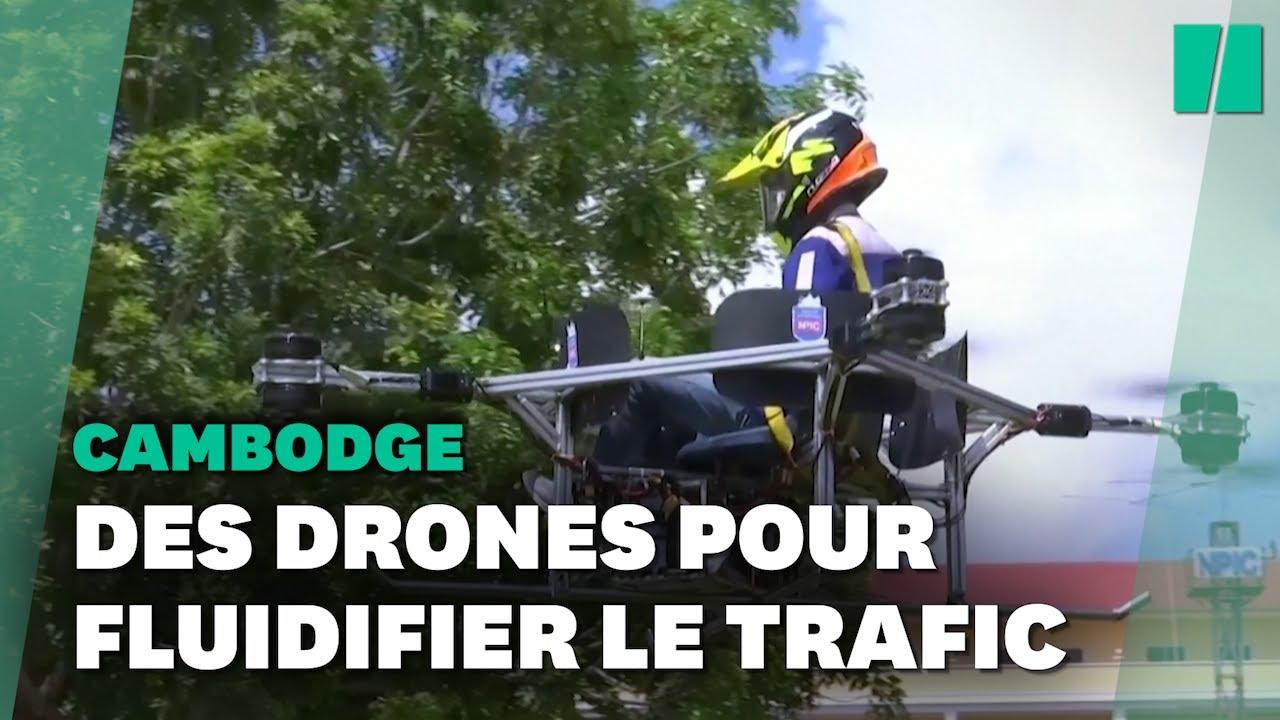 Ces étudiants cambodgiens ont conçu un drone pour transporter des humains