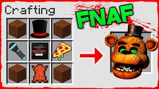 Minecraft FNAF - How to Summon FREDDY in a Crafting Table!