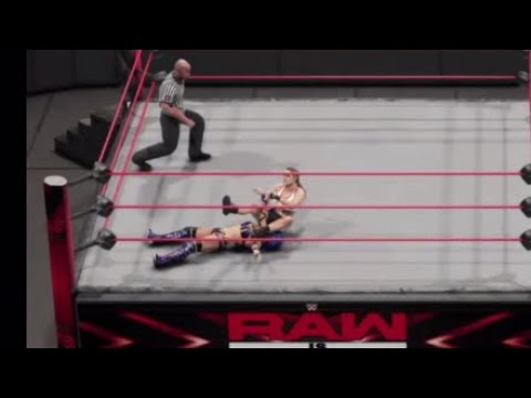 WWE 2K19 RAW TRIPLE THREAT MATCH NIA  JAX VS RONDA ROUSEY VS SASHA BANKS