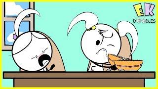 EK Doodles - Kate is Sick ! Cute & Funny Cartoon Twins' Many Pretend Play Adventures