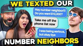 Adults React To I Texted My Number Neighbors And THIS Happened