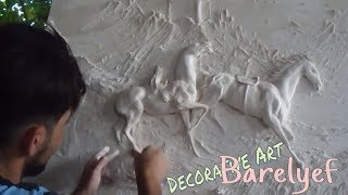 How To Make Bas-Relief Sculpture _ #Decorative Art Play