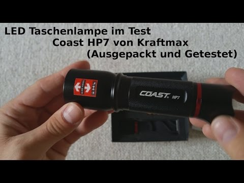 LED Taschenlampe Test , Coast HP7 von Kraftmax