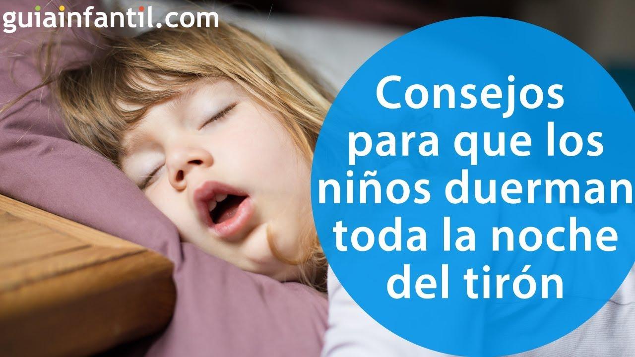 Consejos prácticos para que los niños duerman toda la noche de una vez por todas ????