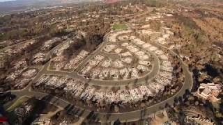 Santa Rosa Fires: Stunning Aerial Video Showing Burned Homes in  Fountaingrove