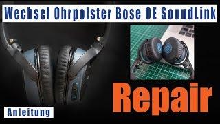 Bose Ohrpolster wechseln SoundLink OE deutsch On-Ear Bluetooth Kopfhörer