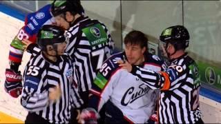 Бой (в крагах) КХЛ: Накладал VS Нестеров / KHL Fight: Nakladal VS Nesterov