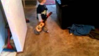 My son Cade jamming to 311's Reconsider Everything