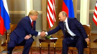 President Trump and President Putin meet in Helsinki, Finland. July 16, 2018.
