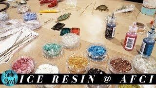 Ranger Ice Resin Demo W/ Susan Lenart Kazmer @ Creativation 2018