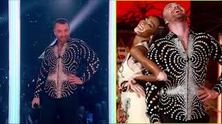 Sam Smith And Calvin Harris Perform 'Promises' At Brit Awards 2019 | (Pitch And Rhythm)