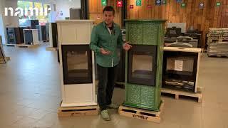 Кафельная печь камин ( Каминофен, изразцовая печь ) Hein GREMIO 3 (зеленая) від компанії House heat - відео