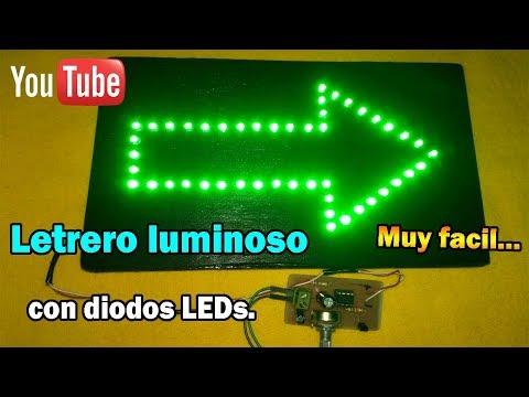 Como hacer letreros luminosos con LEDs | Muy fácil.