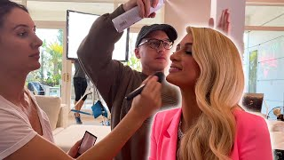 what shooting a YouTube video with Paris Hilton is like + tour her new MANSION....