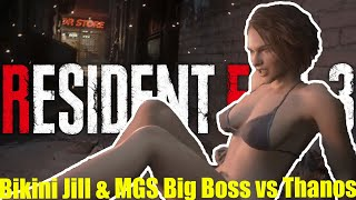 Jill in a Bikini Saves Racoon City with Big Boss vs Thanos - Resident Evil 3 Mod PC