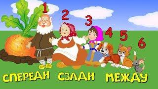 """Понятия """"Спереди"""", """"Сзади"""", """" Между"""". Цифры и числа.  Математика для дошкольников."""