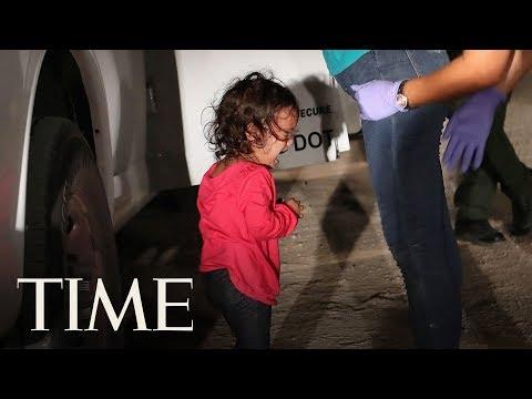 Plačící dívka na hranicích