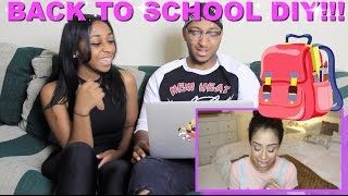 "Couple Reacts : ""I EAT GLUE! BACK TO SCHOOL DIY Parody"" By Liza Reaction!!!"