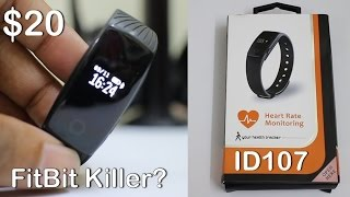$20 Smartband ID107 Fitness Tracker | Unboxing and Overview!