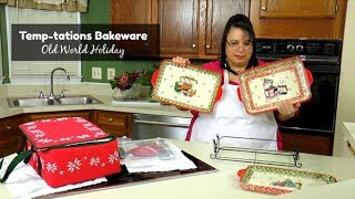 Christmas Decorations Kickoff ~ Temp-tations Bakeware Old World Holiday ~ What's Up Wednesday