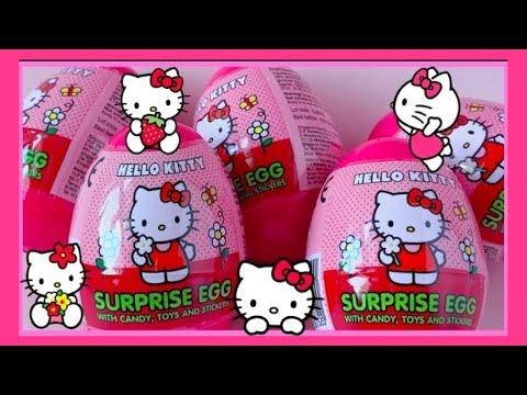 SUPER CUTE PINK UNBOXING | Hello Kitty Surprise Eggs Toys | ハローキティ| 凯蒂猫扭蛋 | Sanrio サンリオ