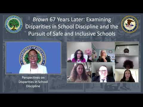 , title : 'Brown 67 Years Later: Examining Disparities in School Discipline & Pursuit of Safe/Inclusive Schools