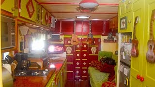 """""""Odessa"""" The Ukulele Tiny House- RV Makeover by touring Musicians-"""