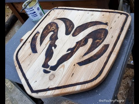 Dodge Ram Plaque Router Carving & Pallet Furniture Sign  Project