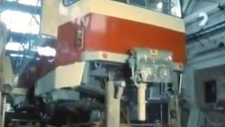 ČKD Tatra - výroba električiek (1989)