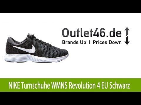 Modischer NIKE Turnschuhe WMNS Revolution 4 EU Sneaker Schwarz l Outlet46.de