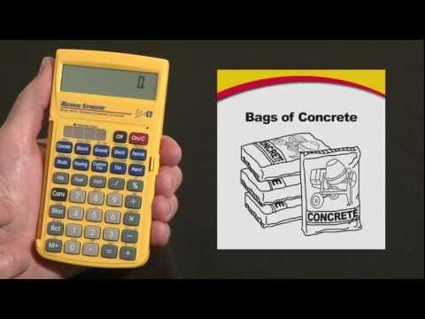 Material Estimator - Bags of Concrete