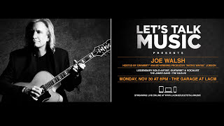 """Let's Talk Music"" welcomes Joe Walsh"